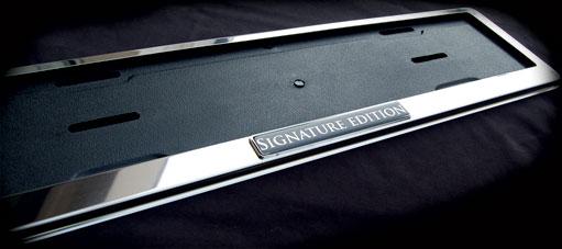 signature edition european number plate frame bentley. Black Bedroom Furniture Sets. Home Design Ideas