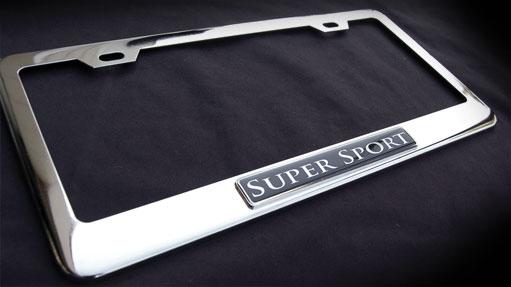 Supersport Super Sport Chrome License Plate Frame Bentley
